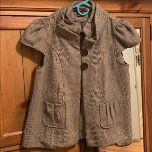 Beautiful artsy double button smock jacket